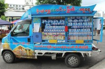 Toto truck ! - cute little blue truck that only sells lottery tickets.